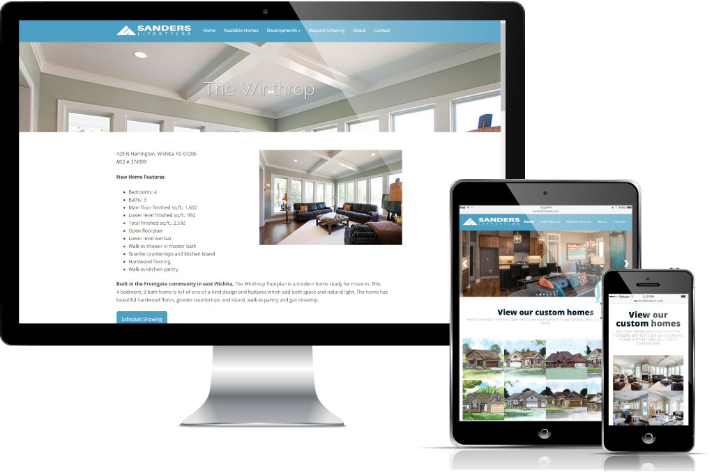 Home builders website design